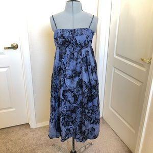 Anthropologie Moulinette Soeurs Blue Floral Dress